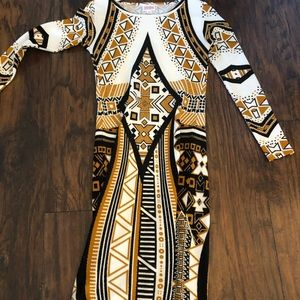 Gold/White/Black HTF Elegant XXS Debbie - LulaRoe